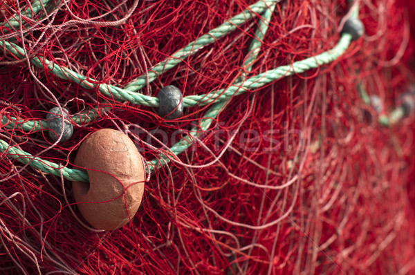 Fishing nets background Stock photo © deyangeorgiev