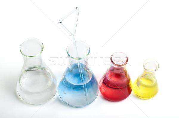 Laboratorio colore prodotti chimici bianco medici Foto d'archivio © deyangeorgiev