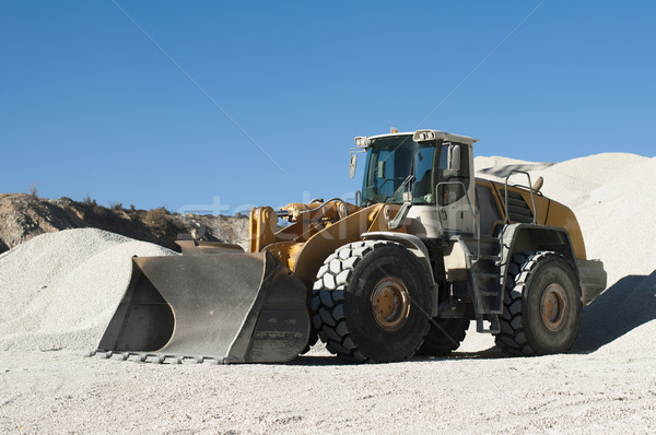 Excavator in a limestone quarry Stock photo © deyangeorgiev