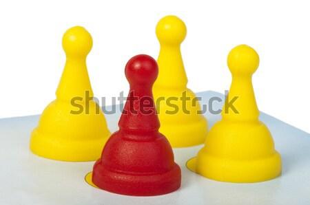 Rood Geel spel witte geïsoleerd business Stockfoto © deyangeorgiev