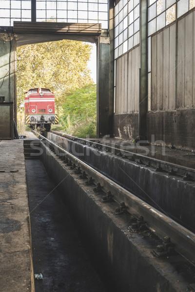 Depot repair trains Stock photo © deyangeorgiev
