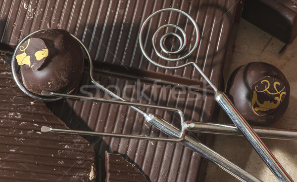Tools for making chocolates Stock photo © deyangeorgiev