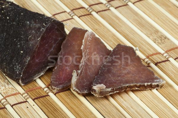 Casero naturales ternera secado carne corte Foto stock © deyangeorgiev