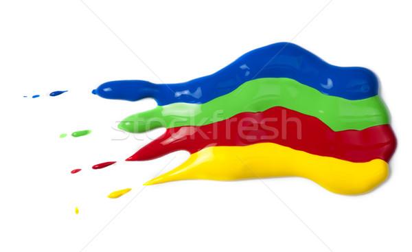 Festék papír piros zöld kék citromsárga Stock fotó © deyangeorgiev