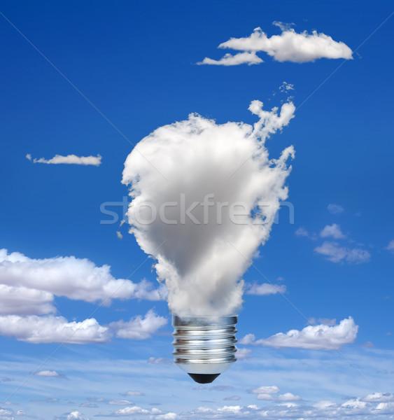 Lamp wolken ecologie blauwe hemel technologie wolk Stockfoto © deyangeorgiev