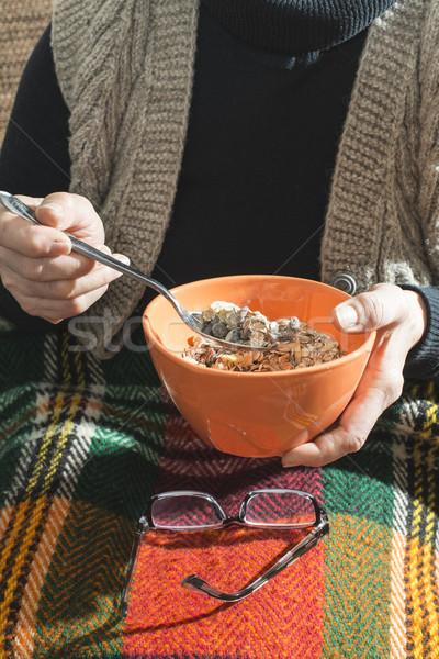 Zdjęcia stock: Puchar · musli · żywności · twarz