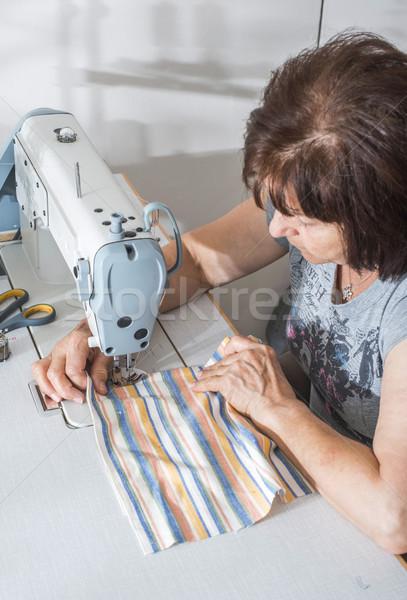 женщины швейные машины белый машина женщину моде Сток-фото © deyangeorgiev