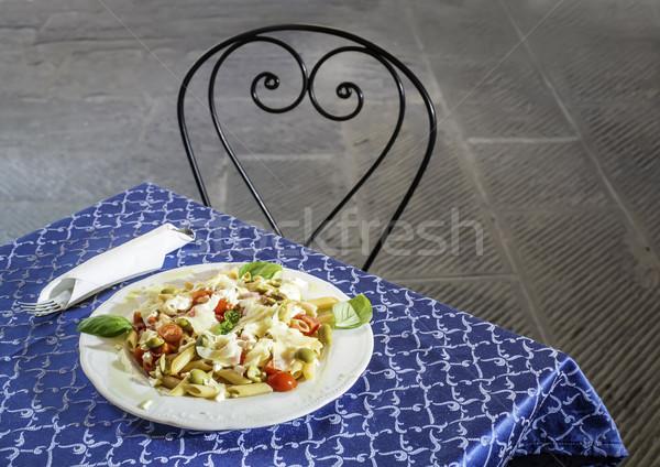 Piatto italiana pasta vintage ristorante italiano sfondo Foto d'archivio © deyangeorgiev