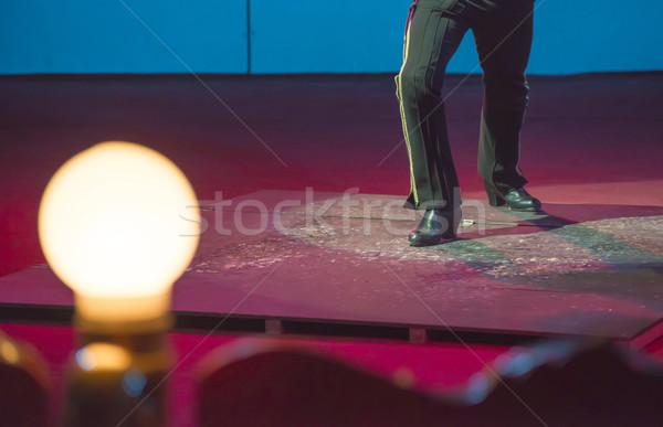 художник цирка арена Болгария синий ночь Сток-фото © deyangeorgiev