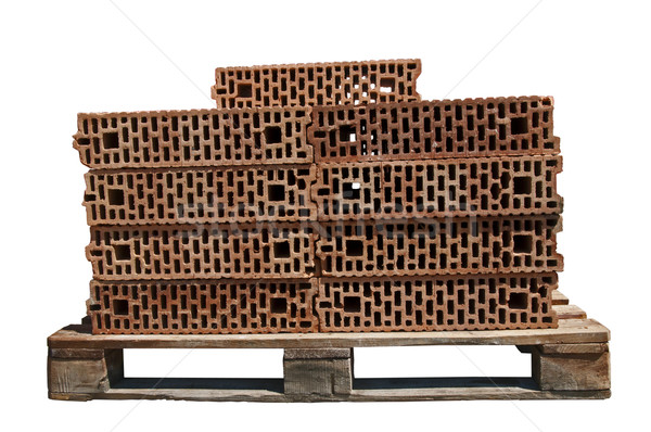 Bricks on pallet  Stock photo © deyangeorgiev