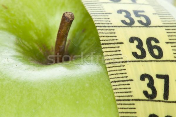 リンゴ センチ 自然 赤 朝食 ストックフォト © deyangeorgiev
