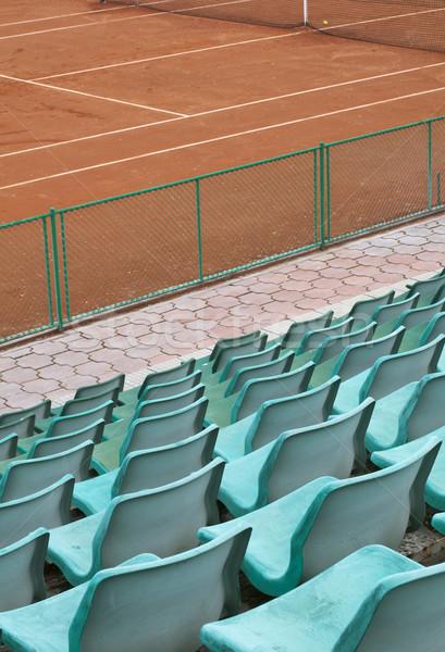 теннисный корт зеленый человека толпа безопасности теннис Сток-фото © deyangeorgiev