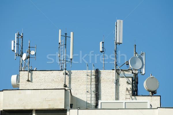 Gsm çatı beyaz idari Bina Stok fotoğraf © deyangeorgiev