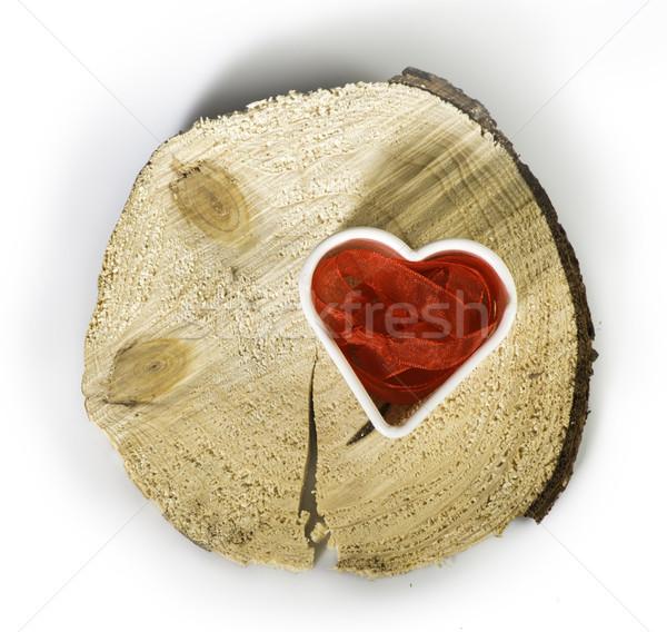 Forma de corazón rojo textiles amor corazón Foto stock © deyangeorgiev