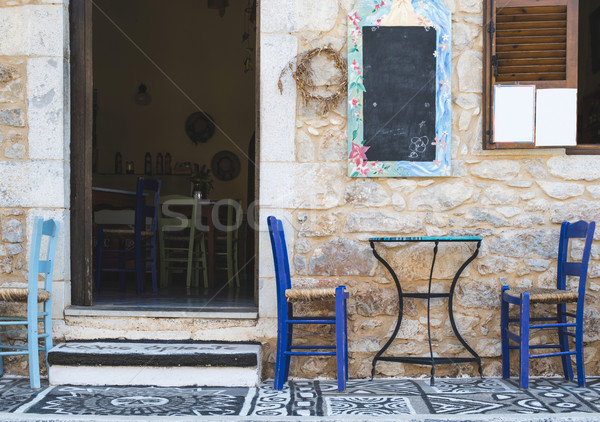 Greek restaurant Stock photo © deyangeorgiev