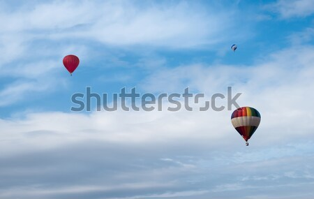 Red balloon in the blue sky Stock photo © deyangeorgiev