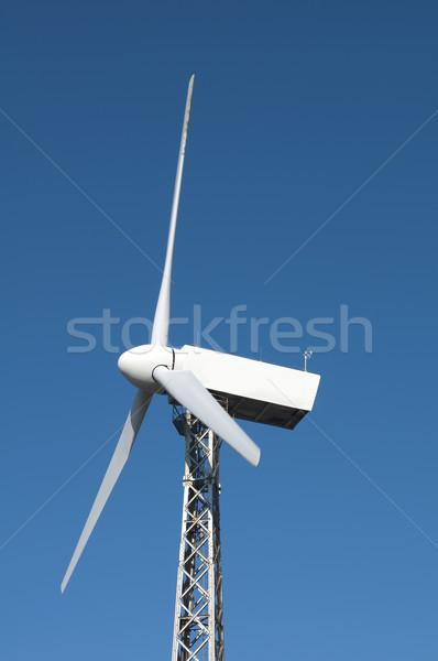 Wind Blauw omhoog propeller hemel natuur Stockfoto © deyangeorgiev