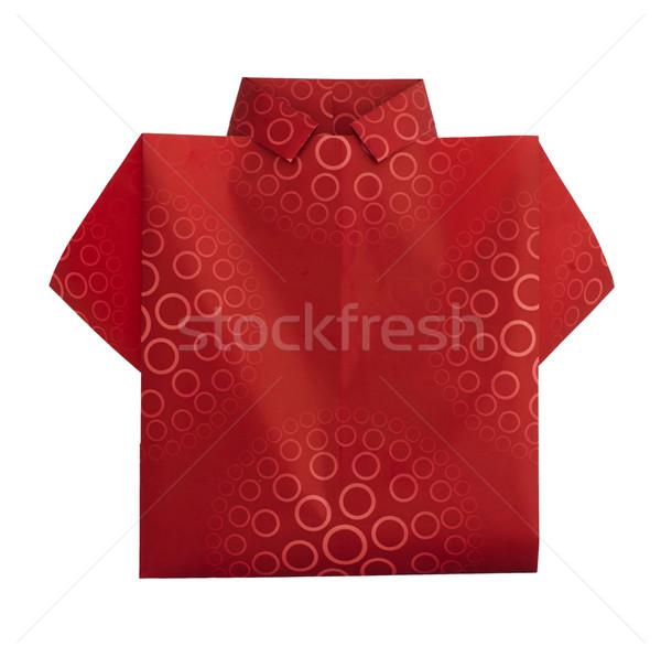 Isolated paper made red shirt. Stock photo © deyangeorgiev