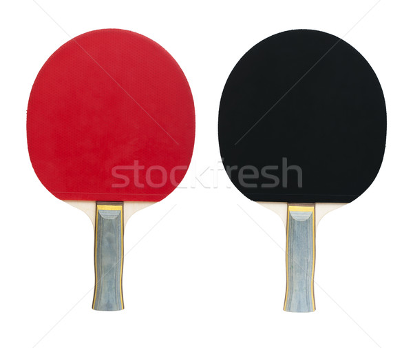 Tennis rackets for ping pong white isolated  Stock photo © deyangeorgiev