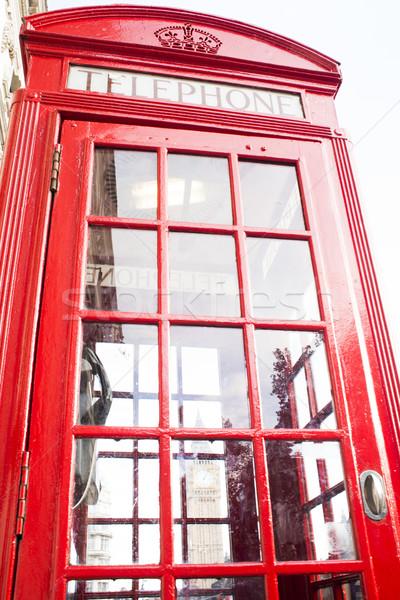 Phone cabine in London Stock photo © deyangeorgiev