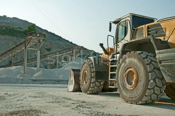 Quarry and Bulldozer Stock photo © deyangeorgiev