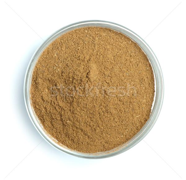 Powdered cinnamon in bowl Stock photo © deyangeorgiev