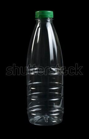 Boş şeffaf plastik şişe siyah yalıtılmış Stok fotoğraf © deyangeorgiev