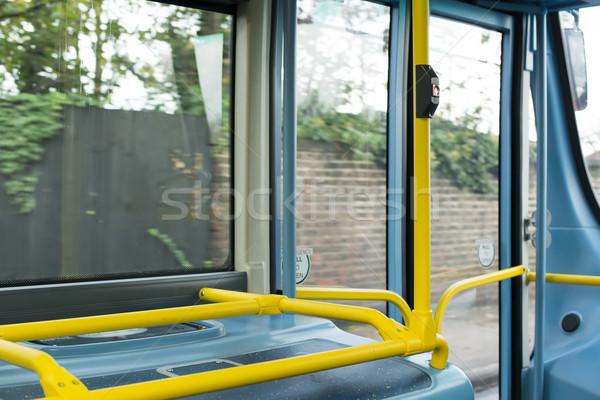 Bus interieur openbaar vervoer achtergrond metro verkeer Stockfoto © deyangeorgiev