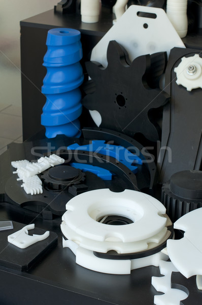 Plastic machine parts. Vertical imagel Stock photo © deyangeorgiev