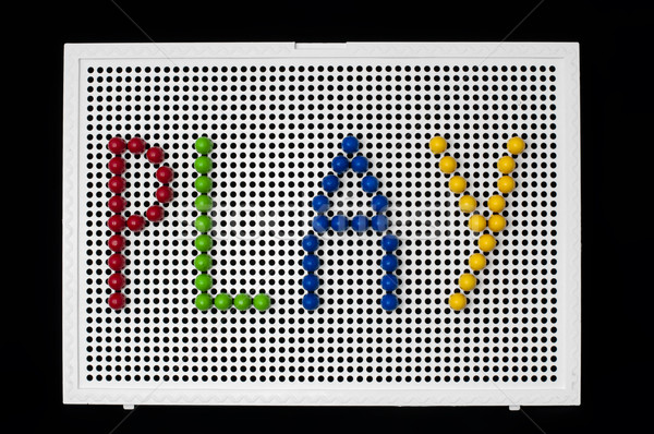 Text Play on child mosaic Stock photo © deyangeorgiev