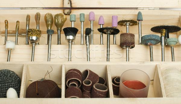 Box of tools for sharpening and grinding Stock photo © deyangeorgiev