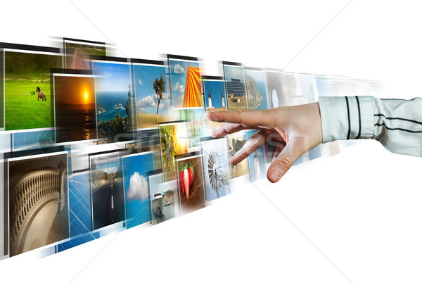 Hand streaming diep witte business Stockfoto © deyangeorgiev