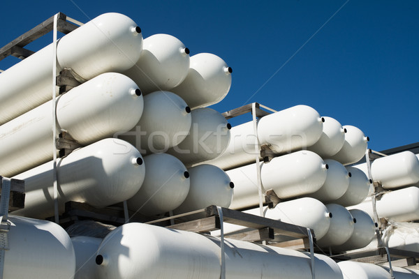 White industrial butan bottles Stock photo © deyangeorgiev