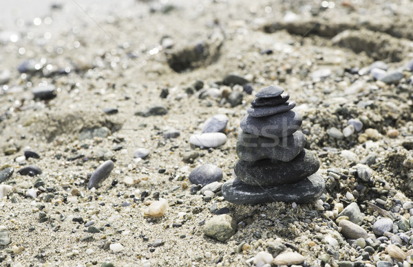 Stacked sea stones Stock photo © deyangeorgiev