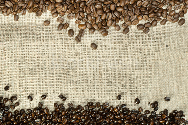Grains de café espace de copie alimentaire café nature fond Photo stock © deyangeorgiev