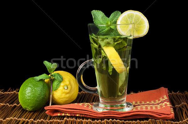 Cup of mint tea Stock photo © deyangeorgiev