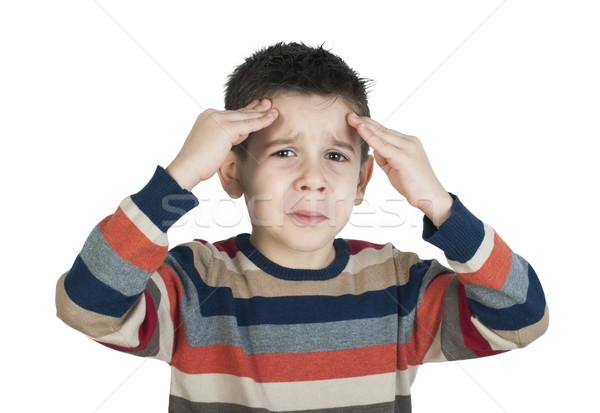 Child have headache Stock photo © deyangeorgiev
