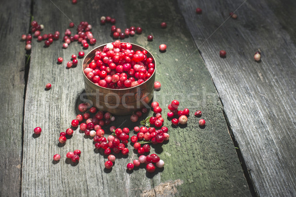 Cranberries in a bowl Stock photo © deyangeorgiev