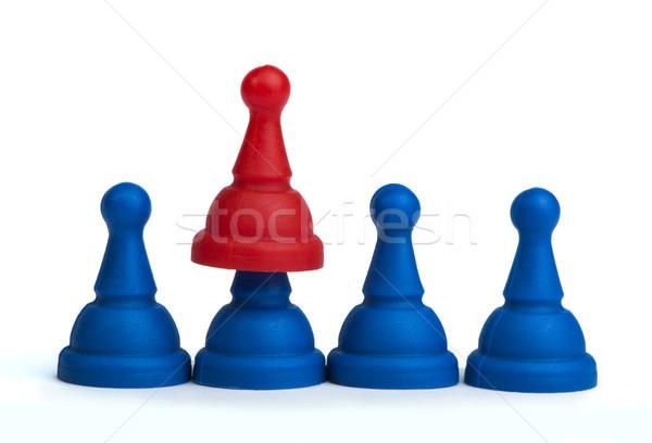 Rojo azul juego blanco aislado negocios Foto stock © deyangeorgiev