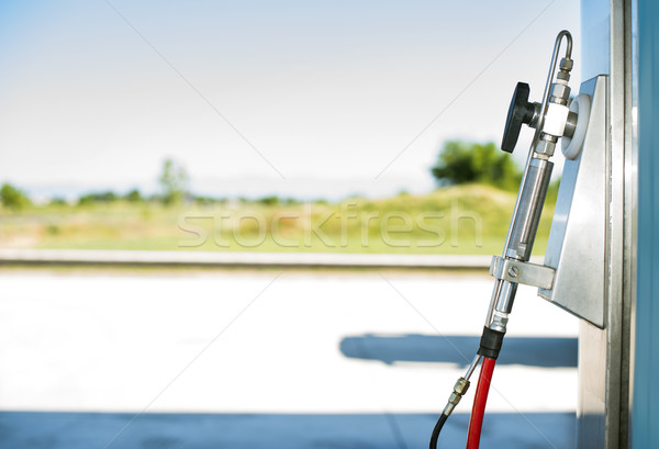 Device for charging gas car on station Stock photo © deyangeorgiev