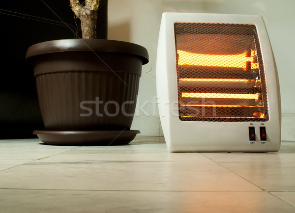 Stock photo: Electric heater