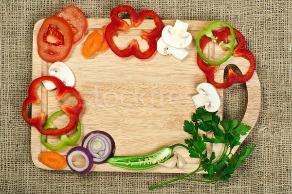 Grens groenten keuken boord voedsel natuur Stockfoto © deyangeorgiev