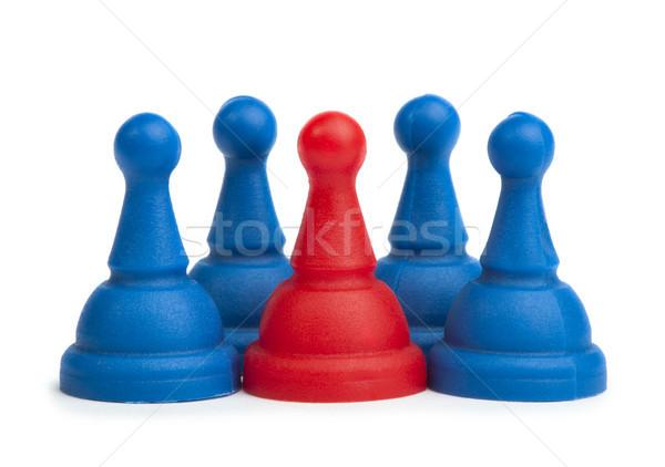 Rood Blauw spel witte geïsoleerd business Stockfoto © deyangeorgiev