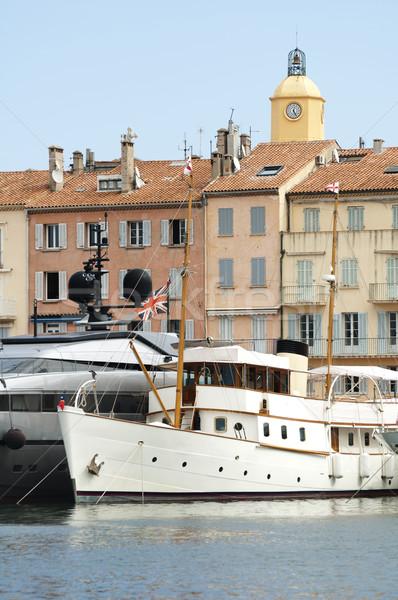 Anchored Yacht in St. Tropez Stock photo © deyangeorgiev