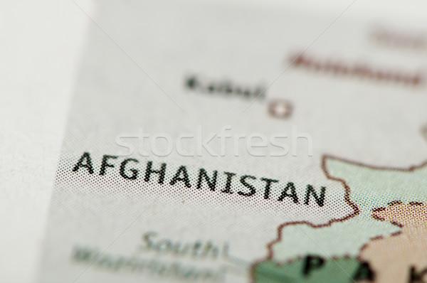 Parola Afghanistan mappa giornale foresta paese Foto d'archivio © deyangeorgiev