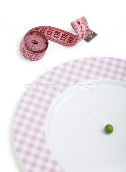 Plaque une pois centimètre mesure Photo stock © deyangeorgiev
