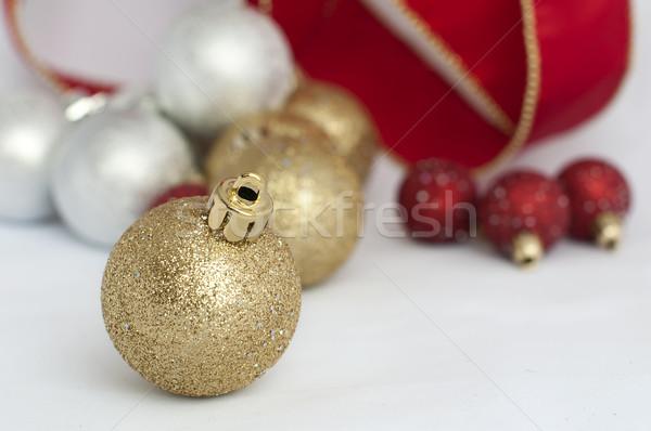 クリスマス モチーフ チェーン 赤 白 ストックフォト © deyangeorgiev