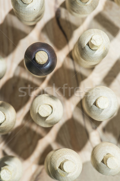 Wooden figures in the concept of individuality  Stock photo © deyangeorgiev