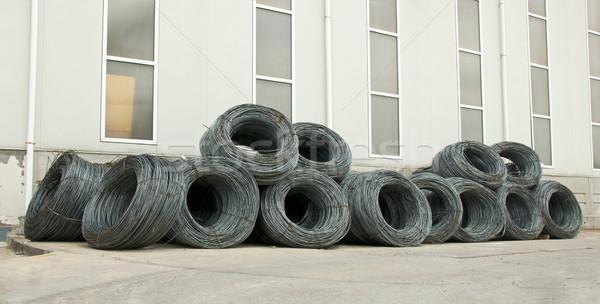 Foto stock: Aço · barras · rolar · materiais · de · construção · construção · metal