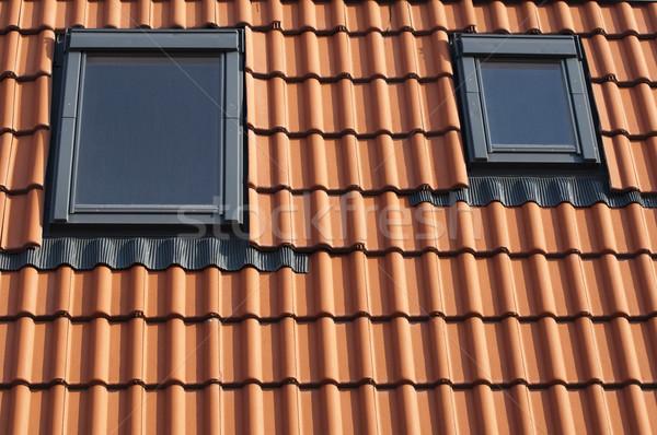 плиточные крыши красный дома окна архитектура Сток-фото © deyangeorgiev